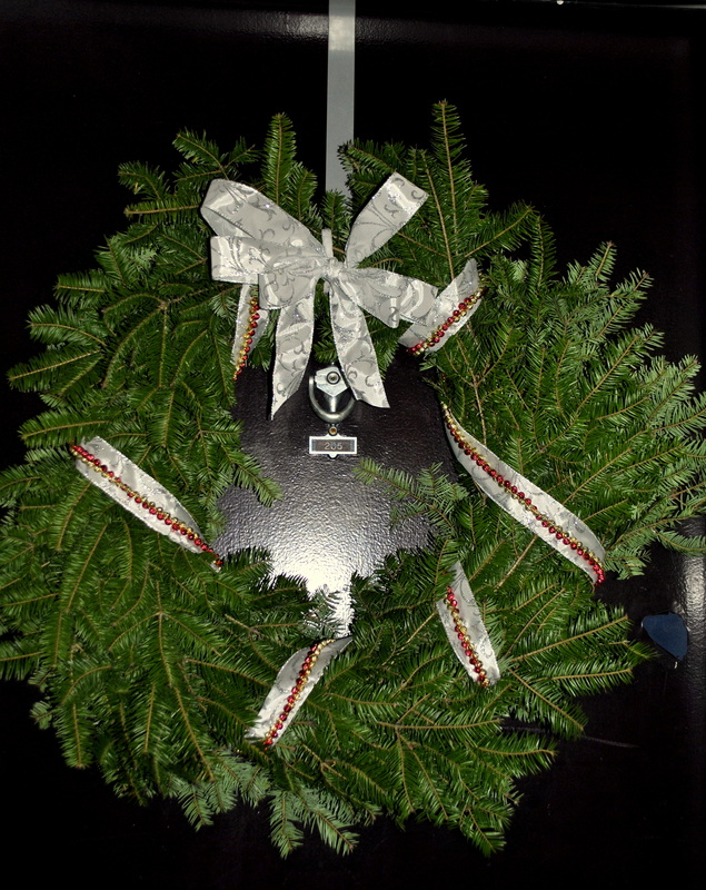 additions to a simple evergreen wreath bailey s irish duck